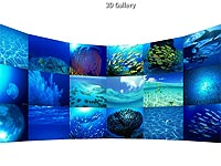 3D Curve Wall flash template